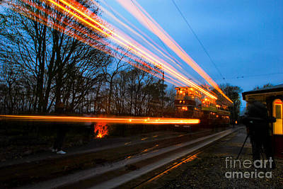 Photograph - Tram Light Trail 7.0 by Yhun Suarez