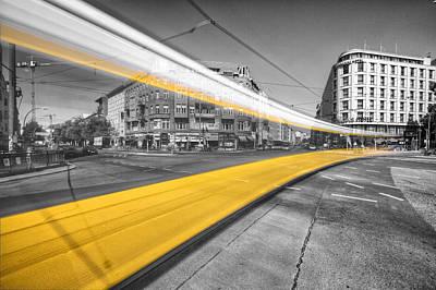 Prenzlauer Berg Photograph - Tram Train Berlin by Marcus Klepper