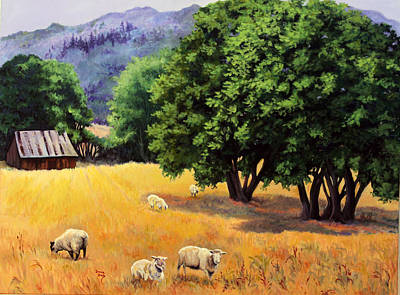 Painting - Tranquil Pastures by Donna Drake