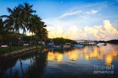 Tranquil Sunset In La Parguera Art Print by George Oze