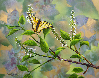 Chokecherry Painting - Tranquility by Dee Carpenter