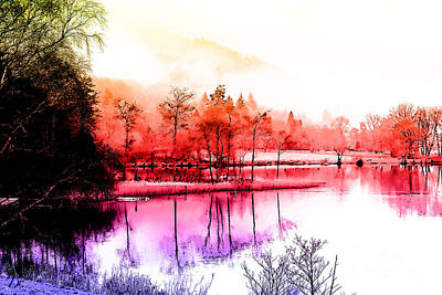 Tranquility In Red Art Print by The DigArtisT