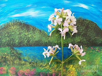 Painting - Tranquility Island by Judy Via-Wolff