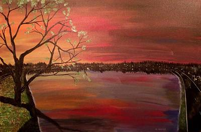 Lake Low Country Painting - Tranquility by Mark Moore