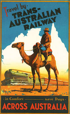 Camel Digital Art - Trans-australia Railway by Georgia Fowler