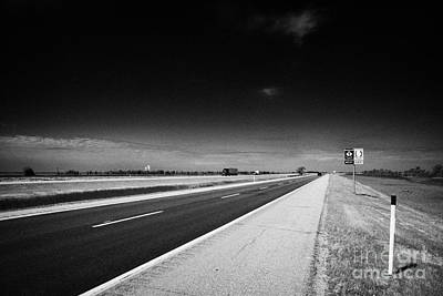 Trans Canada Highway 1 And Yellowhead Route In Manitoba Canada Art Print by Joe Fox