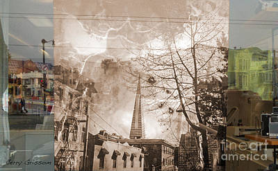Transamerica Building Collage Art Print by Jerry Grissom
