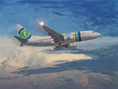 Transavia Boeing 737 No2 Art Print by Nop Briex