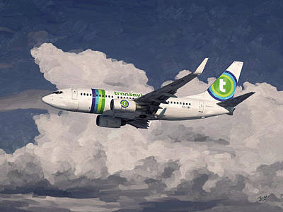 Transavia Boeing 737 Art Print by Nop Briex