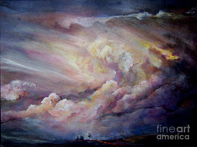 Thunder Painting - Transformation by Beverly Barris