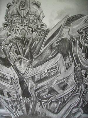Bumblebee Drawing - Transformers 2 Bumblebee Details 3 by Ng Hoi Yee