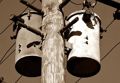 Telephone Poles Photograph - Transformers by David Lee Thompson