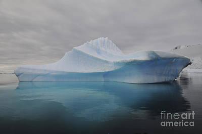 Translucent Blue Iceberg Reflection Art Print by Mathieu Meur
