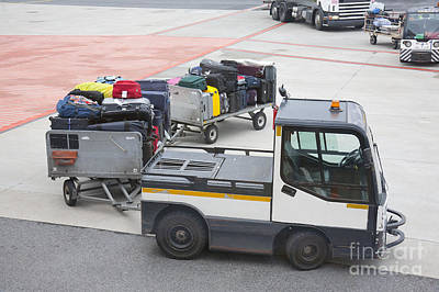 Transported Luggage Art Print