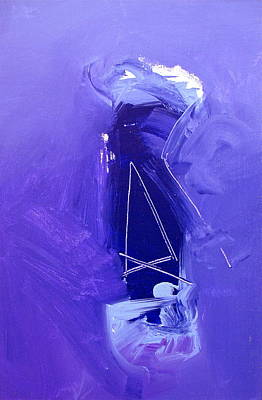 Painting - Transversality Purple -the Void Into Which A Chippewa Sguaws Vision Quest Begins  by Cliff Spohn