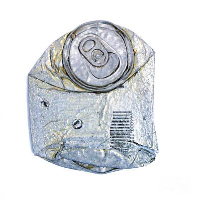 Silver Findings Photograph - Trash Can by Bernard Jaubert