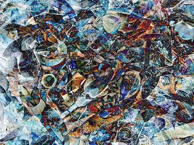 Digital Art - Trash Things At The Bottom Of The Lake by Francesa Miller