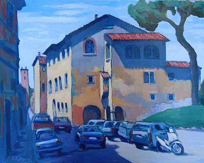 Wall Art - Painting - Trastevere Rome by Edward Abela