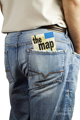 Pleasure Photograph - Travel Map In Back Pocket by Blink Images
