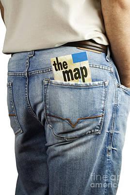 Travel Map In Back Pocket Art Print