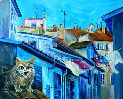 Travel Notebook. Nice. Vieille Ville Art Print