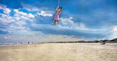 Shore Digital Art - Traveling Light by Betsy Knapp
