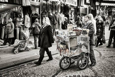 Traveling Vendor Print by Joan Carroll