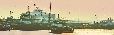 Photograph - Trawlers In Harbor by Ian  MacDonald