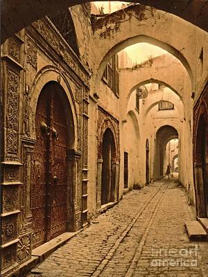 Lintels Photograph - Treasure Street In Tunis by Padre Art