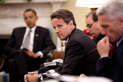 Treasury Secretary Timothy Geithner Print by Everett