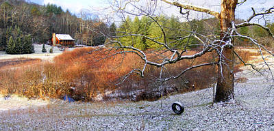 Photograph - Tree And Tire Swing In Winter by Duane McCullough