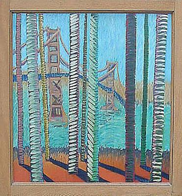 Abstact Bridges Painting - Tree Bridge by Jack Sullivan