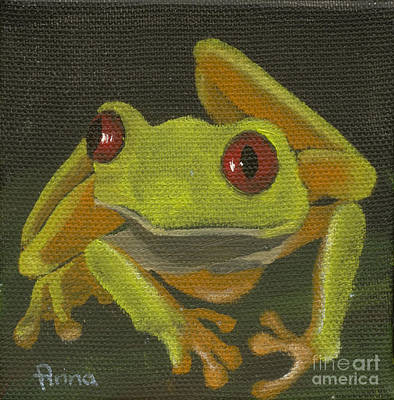 Painting - Tree Frog 1 by Annemeet Hasidi- van der Leij