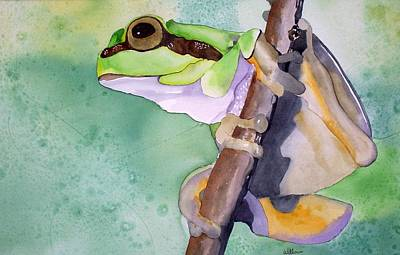 Painting - Tree Frog by Richard Willows