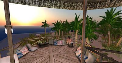 Digital Art - Tree House And Dance Floor by Amy Bradley
