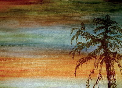 Photograph - Tree In Crayon Sky by Michael Canning