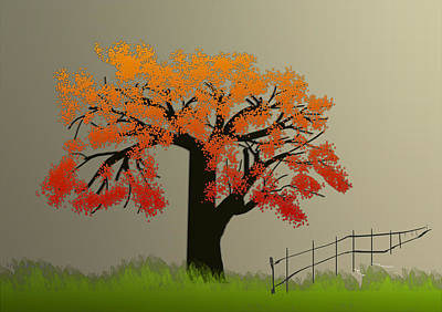 Tree In Seasons - 4 Art Print