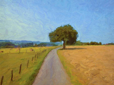 Painting - Tree In The Ardennes by Nop Briex