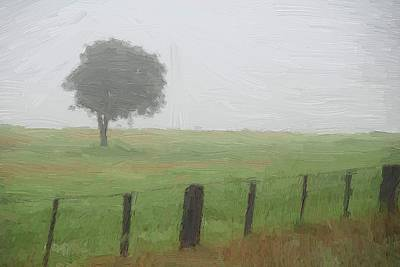 Digital Art - Tree In The Mist by Fran Woods