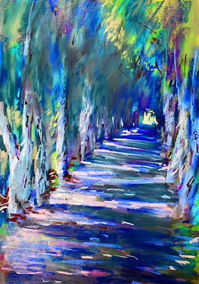 Tree Lines Pastel - Tree Lined Road by Ylli Haruni