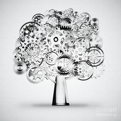 Tree Of Industrial Art Print