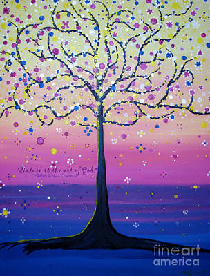 Tree Of Inspirations Art Print by Stacey Zimmerman