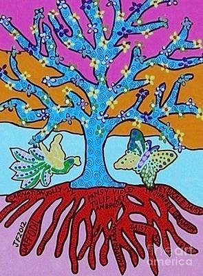 Hamas Painting - Tree Of Life And Knowledge by Sandra Silberzweig