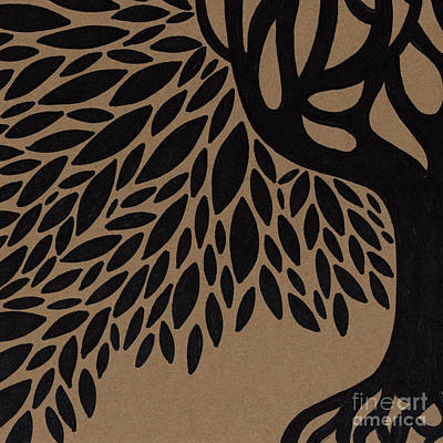 Marker Drawing - Tree Of Life by HD Connelly