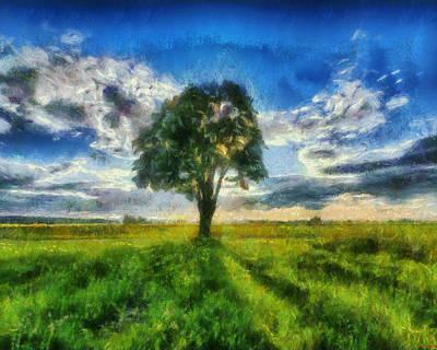 Art Print featuring the painting Tree Of Life by Joe Misrasi