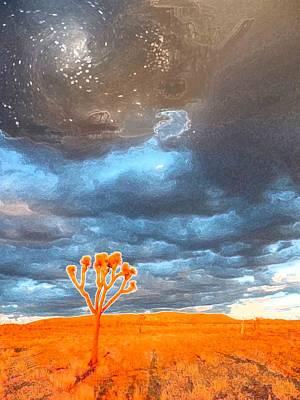 Galactic Alignment Photograph - Tree Of Life Meets A Galaxy by Carolina Liechtenstein