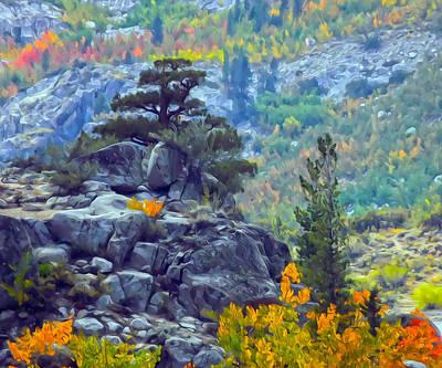 Mixed Media - Tree On A Hill by Frank Lee Hawkins  Eastern Sierra Gallery