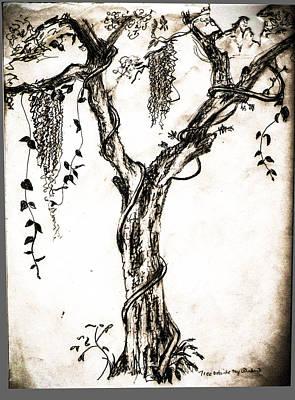 Tree Outside My  Art Print by Christy Usilton