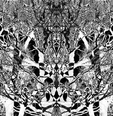 Art Print featuring the digital art Tree Patterns by Michele Cornelius