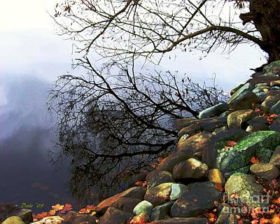 Digital Art - Tree Reflected In Lake by Dale   Ford